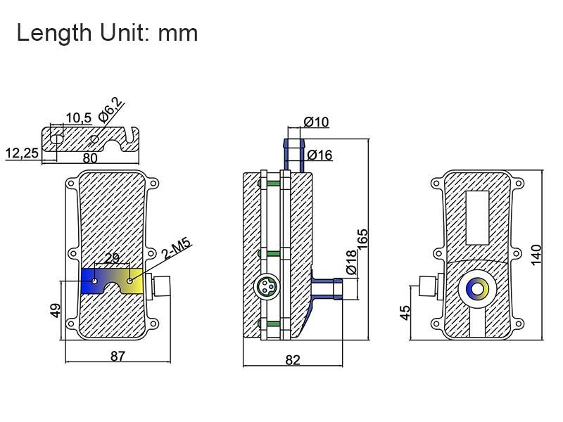 Engine Heater Titan-B1 Dimensions