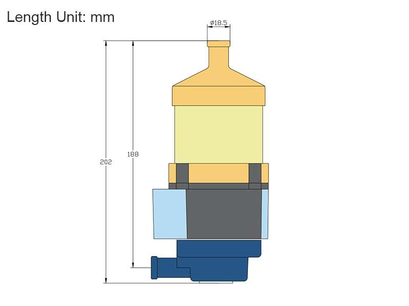 Engine Heater Titan-P5 Dimensions